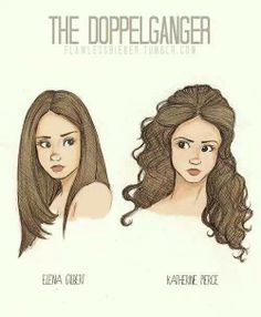 #TVD The Vampire Diaries The difference between Elena and Katherine :P