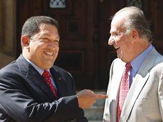 La partida del presidente Hugo Chávez Frías.   Aquí, con Rey de España, Juan Carlos I