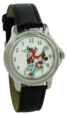 da8f82f2e55 Disney Vintage style backward ticking watch Goofy And Micky Mouse Molded  Hand Quartz watch GFY003 -- You can find out more details at the link of  the image.