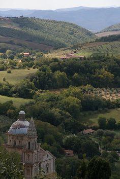 Tuscany landscape, Montepulciano, Siena