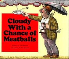 Sub Hub: Emergency Lesson Plans for 3rd grade, based around Cloudy with a Chance of Meatballs. Free!