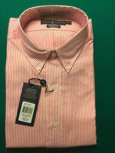 1bf139bde7 This listing is for a long sleeve shirt by Croft & Barrow. It is green and  white striped, a cotton polyester blend and a size 16 Item is in good used  ...
