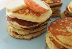 Create Bake Make's easy pikelets have red apples in them, giving them an added sweetness. They can be frozen, too, so whip up a batch and enjoy them any time!