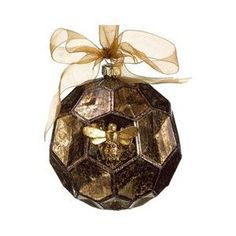 ≗ The Bee's Reverie ≗  Honey Comb Bee Ornament