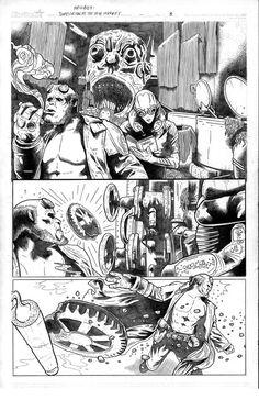Comic art print Hellboy by BIGBOOM on Etsy, $15.00
