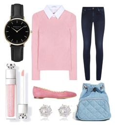 """""""Betty Cooper inspired outfit (Riverdale)"""" by beautyfoolyou on Polyvore featuring 7 For All Mankind, Altuzarra, Chloé, Forever 21, ROSEFIELD and River Island"""