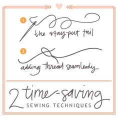 HAND SEWING TIPS