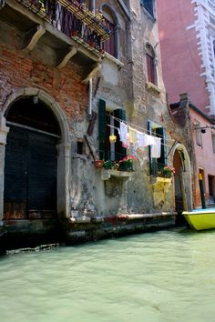 Hanging out the wash in Venice, Italy