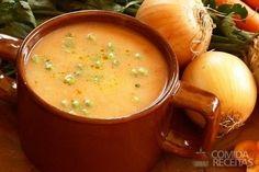 Receita de Sopa creme de cebolas em receitas de sopas e caldos, veja essa e outras receitas aqui!