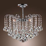 Max+40W+Modern/Contemporary+Crystal+Painting+Metal+Chandeliers+Living+Room+/+Dining+Room+/+Kitchen+–+USD+$+138.80