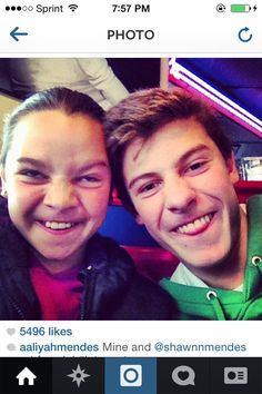 How cute are Shawn and Aaliyah Mendes?