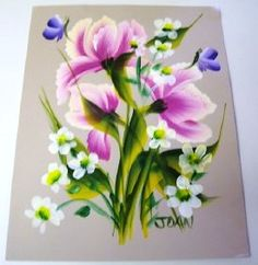 One Stroke Personal Painting Class, Floral Bouquets - You learn Pansy, Tulips, Fern, Roses, Poppy bouquets and filler flowers, dragonflies, filler leaves, butterflies, baby's breath, peonies, foliage, globe thistles,  and ferns. Joan gives feedback on all class material via email.  $20.00 jwaff@tampabay.rr.com  Class  info:  http://www.picturetrail.com/sfx/album/listing/user/joanwaff