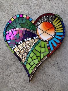 Difficulty: Hard. I like this heart because there are a lot of different colors and shapes.