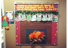 Christian school Christmas bulletin board