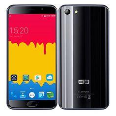 Black Friday Ele Elephone S7 SIM Free Unlocked 4G LTE Smartphone Andorid 6.0 5.5 Inch Bezel-less Curved Screen Helio X20 MTK6797 2.0GHz Deca Core 3GB RAM   32GB ROM Dual SIM 13MP Mobile Phone Black Deals week 3280