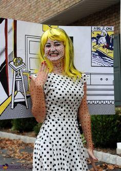 Living in a Comic - Homemade #Halloween #Costume  >>>> Very cool! - SLComicCon #comics
