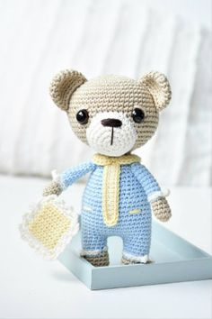 Sleepyhead teddy bear with pajamas and a pillow