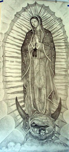 Guadalupe Drawing Detail by Patrick Rankin