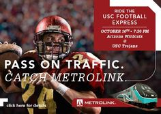 Metrolink has a page full of upcoming, local events accessible by train.