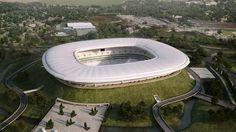 EL NUEVO ESTADIO DE CHIVAS Soccer Stadium, Football Stadiums, Stadium Architecture, Modern Aprons, Sports Complex, Building Structure, Real Madrid, America, Outdoor Decor