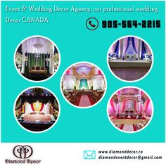 We Understand the importance of having the perfect event of our clients. We bring you Top Wedding Decor Services in GTA, Canada. Decor Sets the tone and ambiance for any event and we always aim to exceed your expectation. Perfect Wedding, Our Wedding, Wedding Venues, Dream Wedding, Diamond Decorations, Wedding Decorations, Stage Set, Amazing Weddings