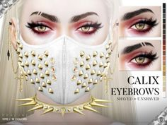 Calix Eyebrow Duo by Praline Sims for The Sims 4