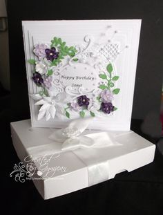 Sisters Birthday by: gymjean Birthday Card Template, Die Cut Cards, Sister Birthday, Marianne Design, Happy Birthday Cards, Flower Cards, Card Templates, Wedding Cards, Projects To Try