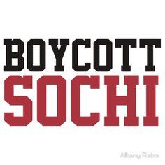 Funny Boycott Sochi Winter Olympics T-Shirt