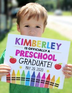 Celebrate this important day with a memorable photo of your preschooler holding on to this 'preschool graduate' sign. Personalize it with your son or daughter's name and graduation date and you are good to go! See more party ideas and share yours at CatchMyParty.com Back To School Party, School Parties, Pre School, Kindergarten Graduation, Preschool Kindergarten, Diy Party Supplies, Best Part Of Me, Photo Booth, How To Memorize Things