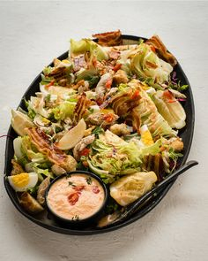 A easy Chicken Caesar Wedge Salad Recipe with pancetta / bacon, egg, chicken & a flavourful homemade salad dressing. Perfect for a light meal or side dish. Wedge Salad Recipes, Micro Herbs, Bacon Egg, Light Recipes, Salad Dressing, Lunch Recipes, Pasta Salad, A Food, Food Processor Recipes