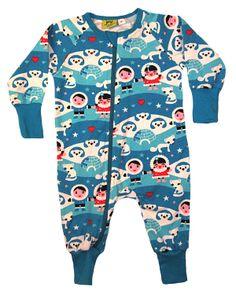 JNY colourful kids - Bodysuit zip Polar night www.jny.se