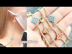 【簡単】マスクチェーンの作り方☆丸小ビーズだけで作れるマスクストラップ ビーズステッチ初級 DIY/ Beaded Face Mask Chain/Tutorial/Seed Beads - YouTube Beading Tutorials, Free Tutorials, Beaded Jewelry, Beaded Bracelets, Bead Weaving, Beads, Earrings, Lanyards, Bracelets