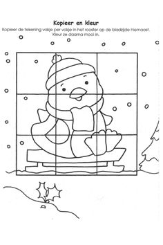 Werkblad visueel: pinguin 2/2 maatjeswerk Puzzles, Adult Coloring, Coloring Pages, Magic Table, Polar Animals, Quilting Tips, Classroom Themes, Christmas Crafts, Kindergarten
