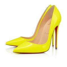 Christian Louboutin OFF! Womens New Arrivals - Designer Shoes Handbags - Christian Louboutin Online Boutique Patent Heels, Pumps Heels, Stiletto Heels, Neon Pumps, Yellow Pumps, Louboutin Online, Christian Louboutin Outlet, Fashion Heels, Fashion Outfits