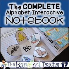 The Complete Alphabet Interactive Notebook: Students will practice identifying, sorting,writing both upper and lower case letters, and producing sounds in this fun, engaging, and absolutely adorable Alphabet Interactive Notebook Complete Set.