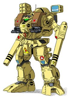 Macross' Tomahawk Destroid (or Battletech's Warhammer Mech). Either way, one of my favorite mecha.