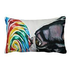 Lollipup Throw Pillow