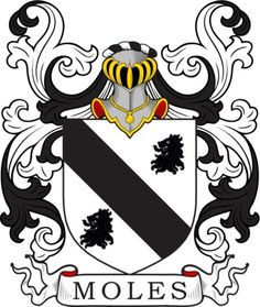 Moles Family Crest and Coat of Arms