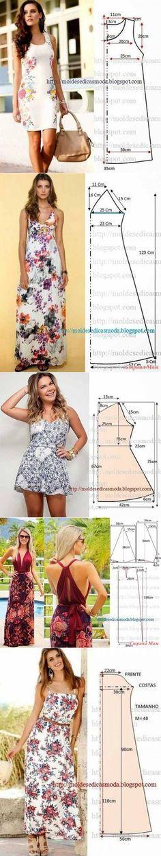 Простые выкройки летних платьев и сарафанов ...<3 Deniz <3