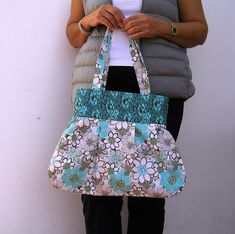 Cotton Floral Shoulder Bag
