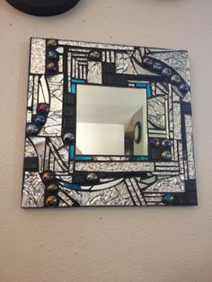 Stained glass mosaic mirror/textured by ShadowDancerDesigns