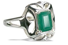 Emerald+Silver+Ring