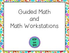 A great blog post with lots of detail about how a first grade teacher organizes her math time to allow for guided math groups and differentiated instruction.