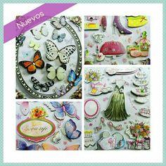 Ideales #stickers para #scrapbook y #manualidades. Stickers colección #lmariposas #glamour