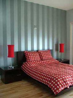 30 fotos e ideas para decorar y pintar las paredes a rayas.   Mil Ideas de Decoración
