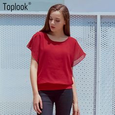e192a8d6b8b Hot Fashion Blusa Feminina 2015 Summer Casual Plus Size Slim Bat sleeve  Chiffon Shirt Women Blouse Blusas Women Tops Clothing www.peoplebazar.net    ...