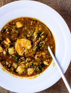 Seafood and Okra Gumbo with Sorghum – CreativeInMyKitchen Okra Gumbo, Lectin Free Diet, Healthy Recipes, Free Recipes, Healthy Foods, Keto Recipes, Vegetarian Cabbage, Pu Erh Tea