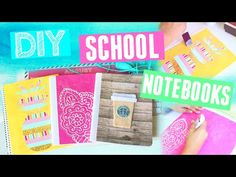DIY Notebooks For School! Back To School Supplies 2015 - YouTube