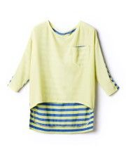High Low Tees with Stripe Reverse