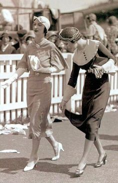 Ascot Racecourse, June 1932, Margaret Whingham and friend